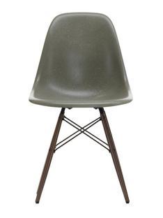 Eames Fiberglass Chair DSW Eames raw umber|Ahorn dunkel