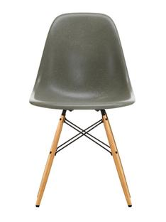 Eames Fiberglass Chair DSW Eames raw umber|Esche honigfarben