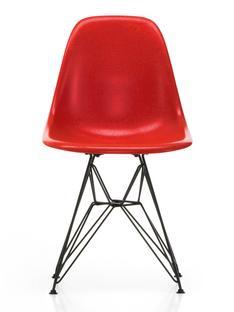 Eames Fiberglass Chair DSR Eames classic red|Pulverbeschichtet basic dark glatt