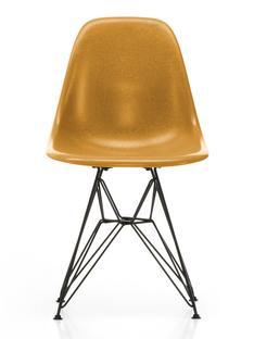 Eames Fiberglass Chair DSR Eames ochre dark Pulverbeschichtet basic dark glatt