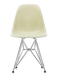 Eames Fiberglass Chair DSR Eames parchment|Glanzchrom