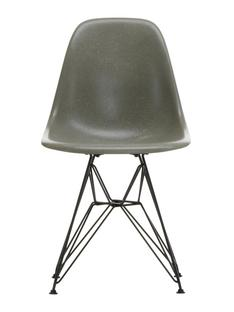 Eames Fiberglass Chair DSR Eames raw umber|Pulverbeschichtet basic dark glatt