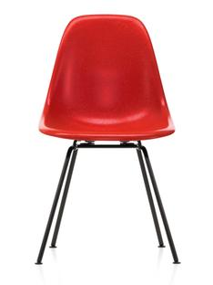Eames Fiberglass Chair DSX Eames classic red|Pulverbeschichtet basic dark glatt
