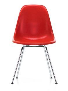 Eames Fiberglass Chair DSX Eames classic red|Glanzchrom