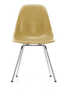 Eames Fiberglass Chair DSX Eames ochre light|Glanzchrom