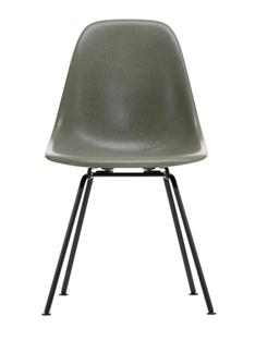 Eames Fiberglass Chair DSX Eames raw umber|Pulverbeschichtet basic dark glatt