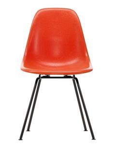 Eames Fiberglass Chair DSX Eames red orange|Pulverbeschichtet basic dark glatt