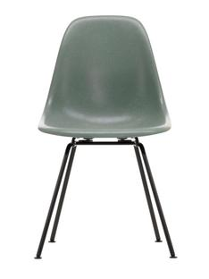 Eames Fiberglass Chair DSX Eames sea foam green|Pulverbeschichtet basic dark glatt