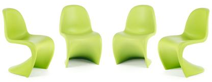 Panton Chair Dark Lime 4er Aktionsset
