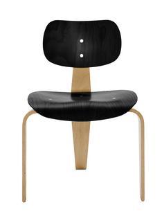 SE 42 Gestell Buche natur, Sitz und Rücken Buche gebeizt|Gestell Buche natur, Sitz und Rücken schwarz